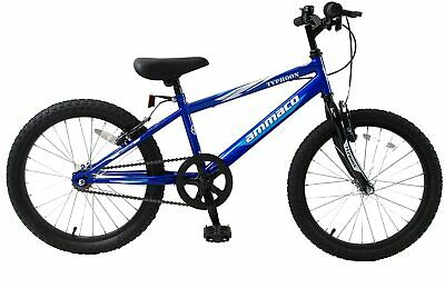 "Kids Mountain Bike Typhoon 20"" Wheel Single Speed Boys Blue White Age 7+"