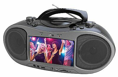 "BRAND NEW NAXA Electronics NDL-256 7"" Bluetooth DVD Boombox"
