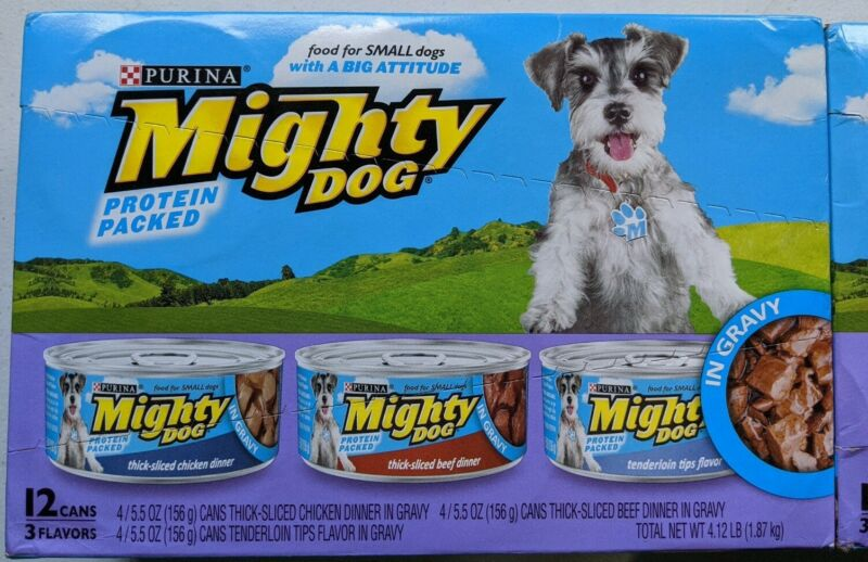 Purina Mighty Dog Small Breed Gravy Wet thick Dog Variety Pack 12 cans