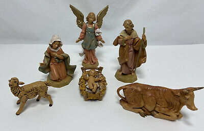 FONTANINI Italy Nativity Set CHRISTMAS Baby JESUS MARY JOSEPH ANGEL ANIMALS 1991