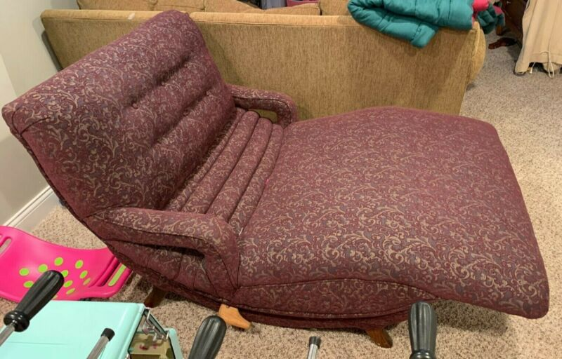 A classic Mid-Century Modern Contour Chair Lounge Cuddler - Reupholstered