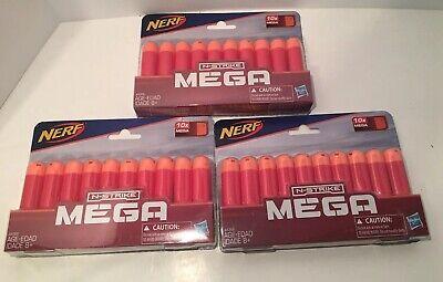 3-pack Nerf 10 Dart Mega Refill Pack N-Strike Mega AccuStrike Blaster 30 Total