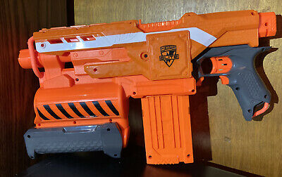 NERF N-Strike Elite Demolisher 2 in 1 Toy Dart Blaster Gun Orange Motorized