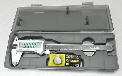 "6"" Digital Electronic Caliper Fractional 3 Way LCD Stainless EZ Cal By iGaging"