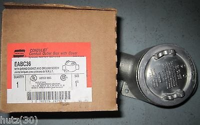 CONDULET Conduit Outlet Box with Cover Crouse Hinds EABC36  NEU !!! - Conduit Outlet Box