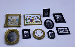 Playmobil 5300~Victorian Mansion~Photo Frame Picture Set And Wall Clock Lot