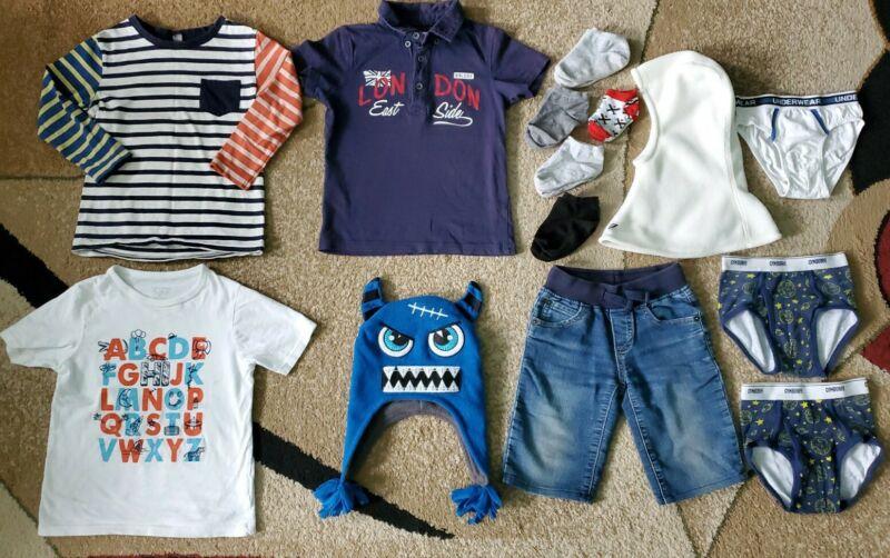 Lot Of 14 Baby Toddler Boy Top T-shirt Hat Balaclava Gymboree Uniqlo Size 2-4t