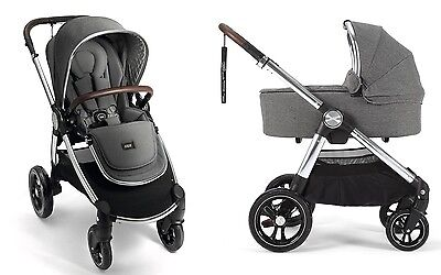 Mamas & Papas 2017 Ocarro Stroller & Bassinet Bundle in Grey Twill Brand New!!