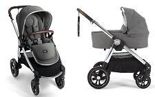 Mamas & Papas 2017 Ocarro Stroller & Bassinet Bundle in Grey Twill Brand New!!