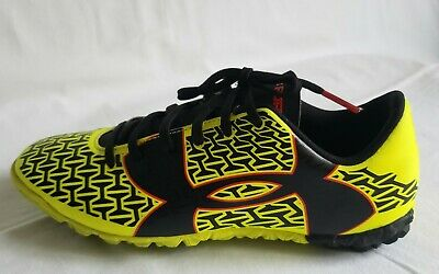 Under Armour CF Force 2.0 FG Boys Youth Soccer Cleats Size 4 Y Neon Black Red