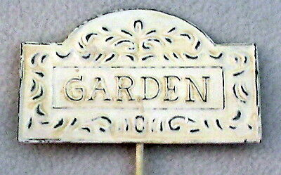 NEW metal GARDEN SIGN plant stake plaque Melrose