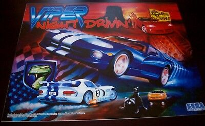 VIPER Night Drivin Pinball Machine Translite Artwork Original 1998 NOS SLASH