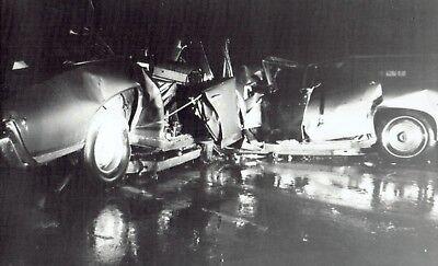 1971 Vintage Wire Car Crash Accident On Interstate 75 Near Grand Blanc Michigan