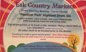 Esk Saturday markets Lowood Somerset Area Preview