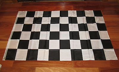 ONE BLACK AND WHITE CHECKERED FLAG 3'X5' NASCAR RACING BANNER CHECKER FLAGS (Checker Flags)