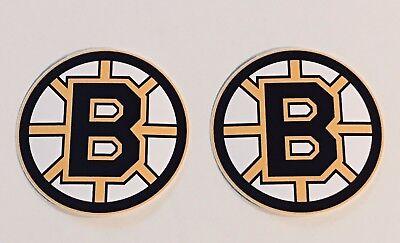 2x Boston Bruins Car Bumper Laptop Wall Vinyl Die Cut Stickers Decals ()