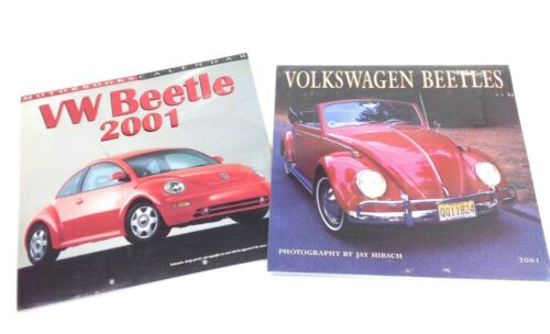 2001 Lot of two (2) Volkswagen Beetle Calendars Sealed