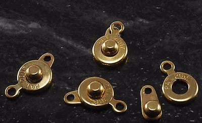 Ball And Socket Clasp Set of 4 Gold Tone Metal 6mm 1 Strand Jewelry Making DIY