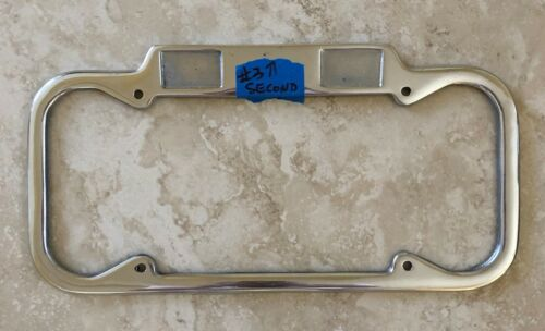 California YOM License Plate Frame Defects 1940-1955 DMV Month Year Stickers