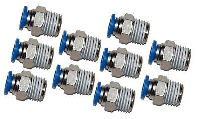 5 Pieces Pneumatic 14 Tube X 14 Npt Male Connector Push To Connect Fitting