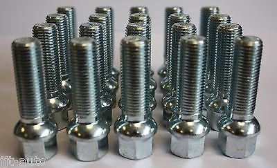 20 X M14 X 1.5 55MM LONG RADIUS ALLOY WHEEL BOLTS FIT MERCEDES ML W163 W164 W166