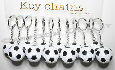 12 SOCCER BALL FOOTBALL PARTY SUPPLIES KEY CHAINS BOY GIRL SPORT PARTY FAVORS ](Soccer Party Favors)