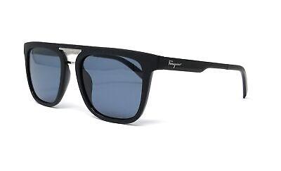 Salvatore Ferragamo Sunglasses SF879S 002 Matte Black Rectangle 53x19x150
