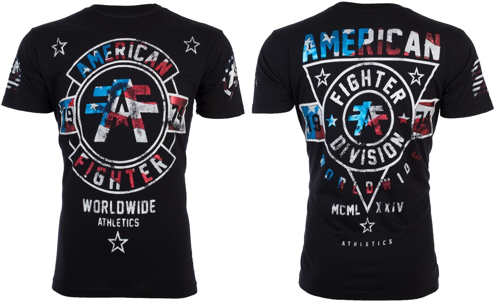 AMERICAN FIGHTER Mens T-Shirt SILVER LAKE PATRIOT Biker USA
