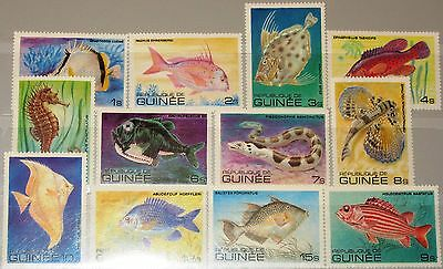 GUINEA 1980 871 82 A 795 06 FISH FISCHE SEA LIFE MARITIME FAUNA MEERESTIERE MNH