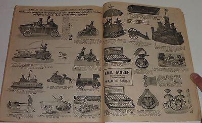 alter Katalog Emil Jansen Stahlwarenfabrik / Versandhaus,Wald b.Solingen um 1919