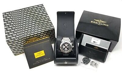 Used Mens Breitling Super Avenger II Chronograph w/ Box + Papers A1337111 / BC29