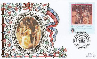 (18955) Grenada Benham FDC Queen Coronation 2 June 2003
