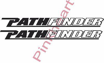 """2- Pathfinder decals pair sticker decal boat flats Sm path finder 24"""" X 2.1"""" USA"""