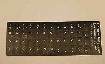 Tastatur Aufkleber Keyboard sticker DE Laptop Notebook Deutsch German schwarz