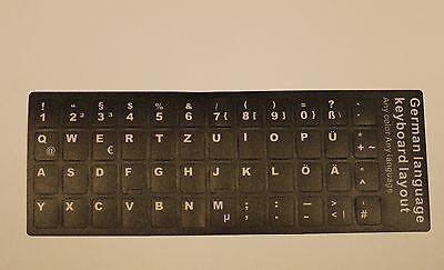 Keyboard sticker 3M DE Tastatur Aufkleber  Laptop Notebook Deutsch German Black