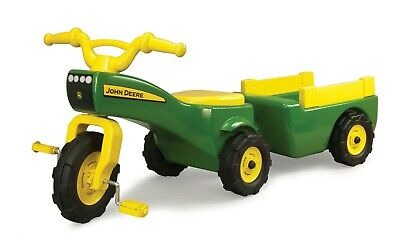 New Pedal Tractor Children Kids Boys Toy Outdoor Foot Operated Ride On Trailer