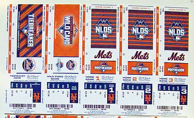 Ny Mets Citi Field Full Unused Strip Every Home Ticket 2015 Nlds   Wild Card Gm