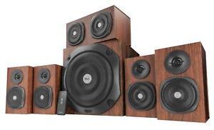 Trust Vigor 5.1 Surround PC Speaker System (Brown) Rich and powerful sound