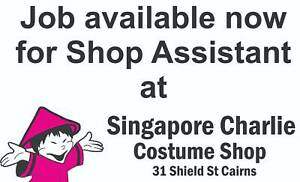 Job available for Shop Assistant in Cairns