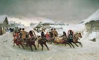 Poster A3 Pintura Rusa Troika Nieve Snow Russian Painting -  - ebay.es