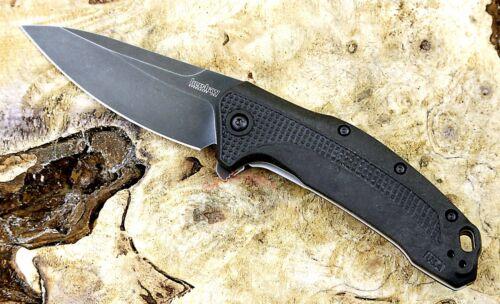 1776BW Kershaw Link Blackwashed pocket knife assisted opening New Blem USA Made
