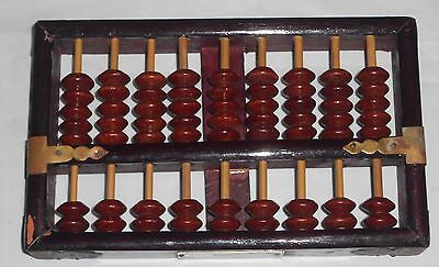 "LOTUS-FLOWER BRAND ABACUS PEOPLES REPUBLIC Of CHINA - 63 PCS - 7""x4.25"" ~ D1"