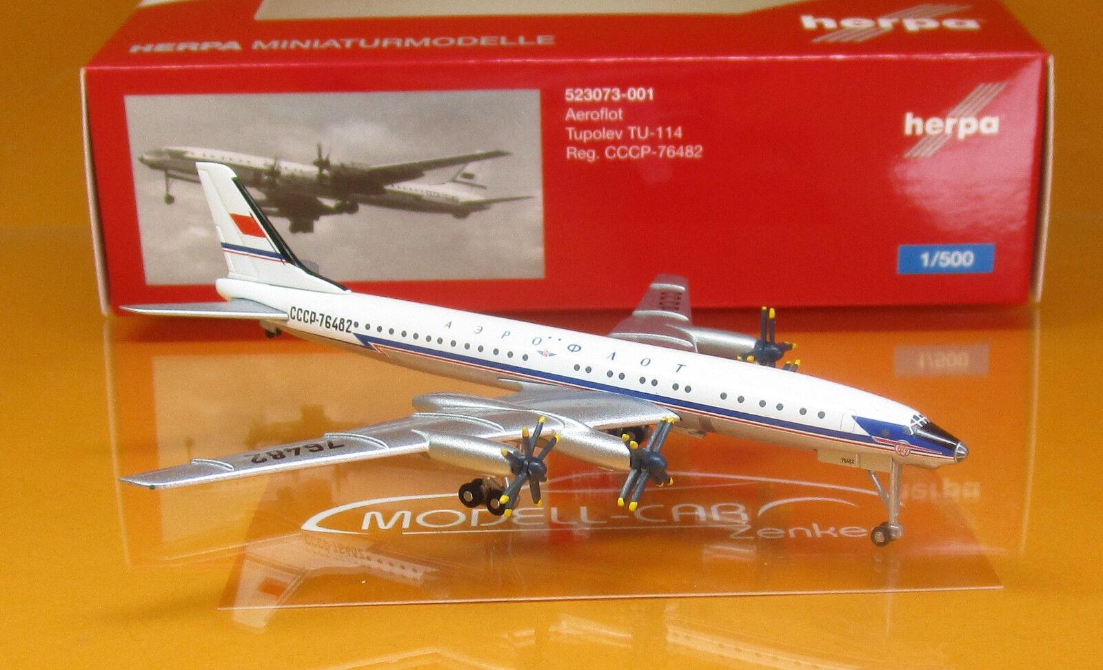 Herpa Wings 1:500 Tupolev TU-114 Aeroflot CCCP-76482 523073-001 Modellairport500