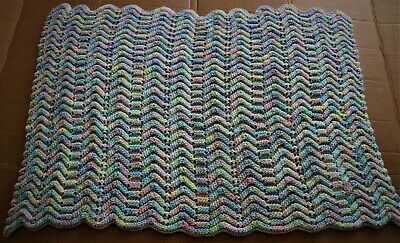 Beautiful Hand Crocheted Baby Blanket-  Pastel Colors