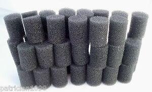 Lot-3-D-Foam-Shapes-Cylinder-Marshmallow-Black-Craft-Art-Supplies-Crochet-Sewing