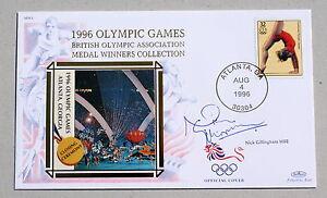 OLYMPIC-GAMES-ATLANTA-1996-BENHAM-COVER-SIGNED-BY-SWIMMER-NICK-GILLINGHAM