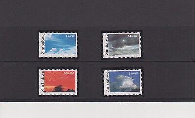 Zimbabwe  Cloud Formations Issue of Year 2005 Set MNH Scott 986-989