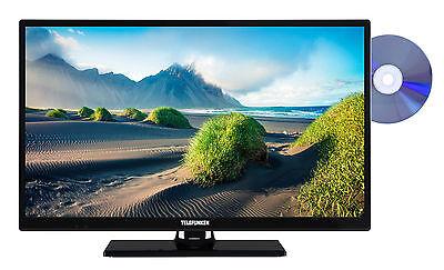Telefunken XH24D101D Fernseher mit DVD-Player 24 Zoll HD TV Triple-Tuner CI+