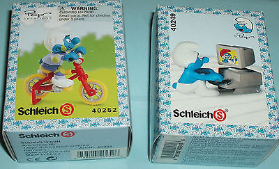 #14 LOT of TWO Vintage SUPER SMURF CYCLIST  and COMPUTER SMURFS