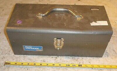 Master Mechanic Tool Box W Tray Chest Case Metal Steel Tt 415